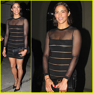 Paula Patton Steps Out In Sexy Sheer Dress at Emmys After Party