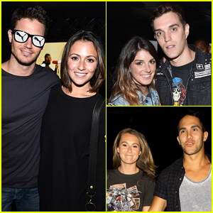 Robbie Amell & Italia Ricci Make it a Couples' Night at Justin Timberlake's Concert in L.A.!