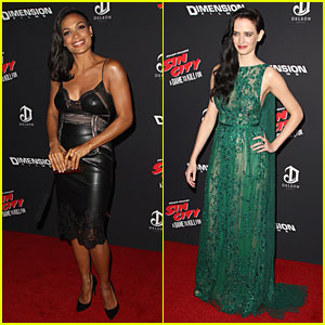Rosario Dawson & Eva Green Are Picture Perfect at 'Sin City: A Dame to Kill For' Premiere!