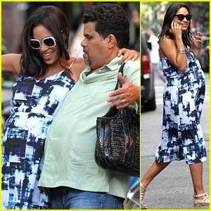 Rosario Dawson & Luis Guzman Compare Their Big Bellies!
