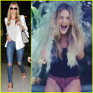 Rosie Huntington-Whiteley Sports Underwear For Ice Bucket Challenge - Watch Now!