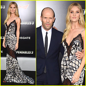 Rosie Huntington-Whiteley Turns Heads at Boyfriend Jason Statham's 'Expendables 3' Hollywood Premiere