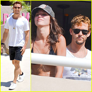 True Blood's Ryan Kwanten & Girlfriend Ashley Sisino Party It Up in Palm Springs