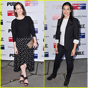 Sarah Paulson & America Ferrera Get In Some Shakespeare at 'King Lear' Opening Night