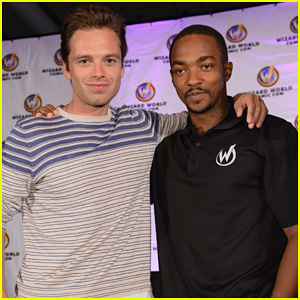 Sebastian Stan & Anthony Mackie Use Dolls for Ice Bucket Challenge