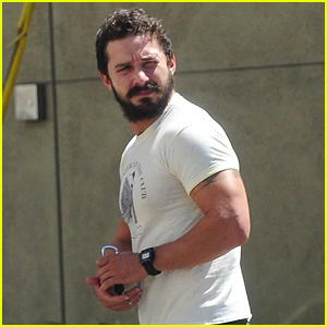 Shia LaBeouf's Biceps Sure Are Lookin' Big These Days!
