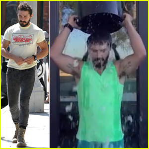 Shia LaBeouf Barely Reacts to the Icy Water in his Ice Bucket Challenge - Watch Now!
