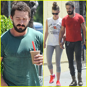 Shia LaBeouf & Girlfriend Mia Goth Hold Hands After Lunch Date!