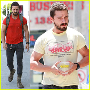 Shia LaBeouf Steps Out After 'Fury' Gets New Release Date