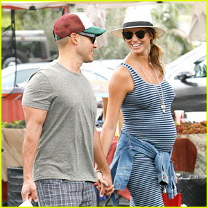 Stacy Keibler Steps Out with Large Baby Bump & Husband Jared Pobre!