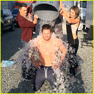 Stephen Amell Takes the Ice Bucket Challenge - Watch Him in All His Shirtless Glory Here!