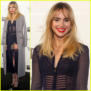 Suki Waterhouse Goes Totally Sheer for Mario Testino Event