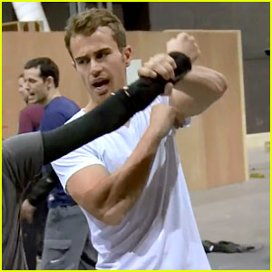 Theo James Trains to Become Four in 'Divergent' BTS Clip (Exclusive Video)