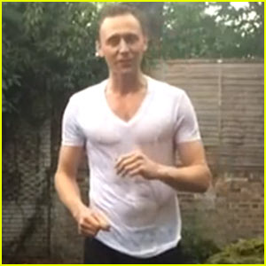 Tom Hiddleston's Wet T-Shirt Becomes See-Through for ALS Ice Bucket Challenge!