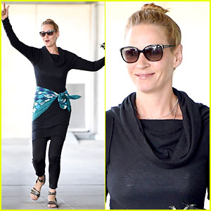 Uma Thurman Jumps for Joy & We Feel Her Enthusiasm!