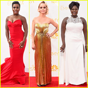 Uzo Aduba & Taryn Manning Steer Clear of 'Orange' on Emmys 2014 Red Carpet