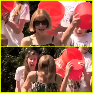 Vogue's Editor in Chief Anna Wintour Completes Ice Bucket Challenge & Gets Totally Drenched (Video)