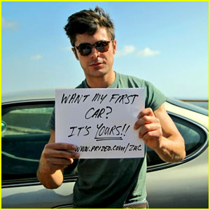 Zac Efron Is Giving His First Car Away to One Lucky Fan!