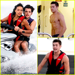 Zac Efron Goes Shirtless for Jet Ski Fun with Michelle Rodriguez