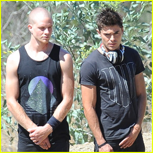 Zac Efron & Jonny Weston Take On The Heat While Filming 'We Are Your Friends'