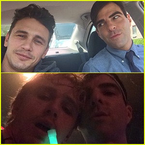 Zachary Quinto & James Franco Look Like They're Becoming Total BFFs!