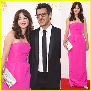 Zooey Deschanel & Boyfriend Jacob Pechenik Make Red Carpet Debut at Emmys 2014
