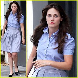 Zooey Deschanel Pampers Herself at Hair Salon After Wrapping 'Rock the Kasbah'