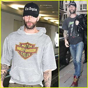 Adam Levine Leaves His Heart in Los Angeles