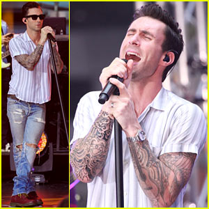 Adam Levine Performs 'Maps' with Maroon 5 on 'Today Show'