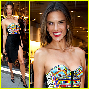 Alessandra Ambrosio Puts Her Legs for Days On Display for Schutz Celebration