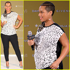 Alicia Keys Flaunts Small Baby Bump at Dahlia Divin by Givenchy Launch