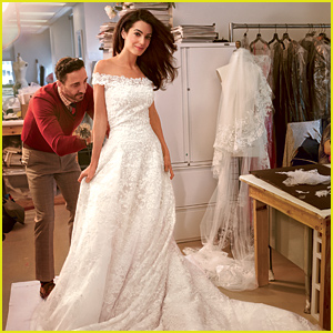 Amal Alamuddin Gets Fitted In Her Oscar de la Renta Wedding Dress - See the Photo!