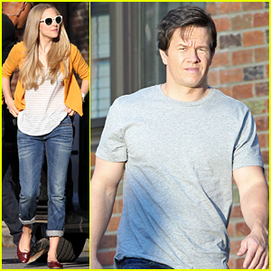 Mark Wahlberg & Amanda Seyfried Get Back to Work on 'Ted 2'