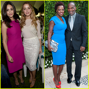 Amber Heard & Emmy Rossum Show Their Support at the Rape Foundation Brunch
