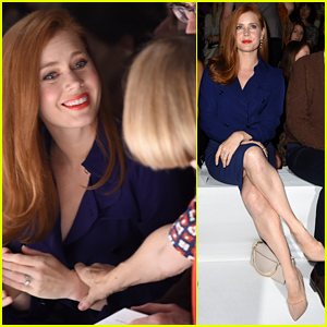 Amy Adams & Anna Wintour Share a Moment in the Front Row at Max Mara's Milan Show!