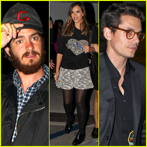 Andrew Garfield, Jessica Alba, & More Celebs Hit Up 'Drake vs Lil Wayne'
