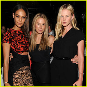 Anne V & Joan Smalls Support Jennifer Fisher During NYFW