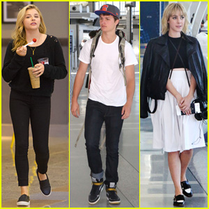 Ansel Elgort, Chloe Moretz, & Jena Malone Fly Out After TIFF