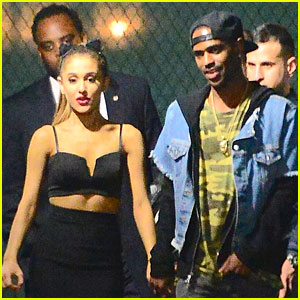 Ariana Grande & Big Sean Hold Hands at 'SNL' After Party