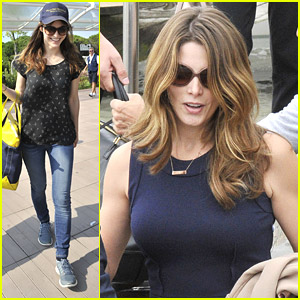 Ashley Greene & Alexandra Daddario Arrive in Venice For 'Burying The Ex'