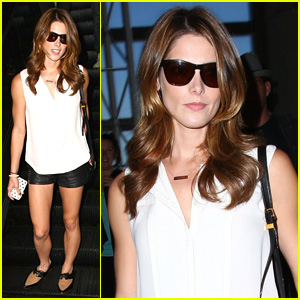 Ashley Greene Shows Off Her Toned Legs at LAX Airport