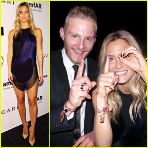 Bar Refaeli Replays amfAR with Alexander Ludwig