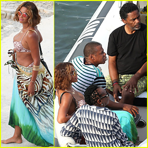 Bikini-Clad Beyonce & Husband Jay Z Bring Their Families Along for Cannes Vacation