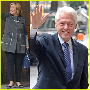 Bill & Hillary Clinton Visit Chelsea & Baby Charlotte at Hospital