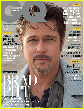 Brad Pitt Covers 'British GQ,' Talks Marriage, Happiness, & His Pal George Clooney!