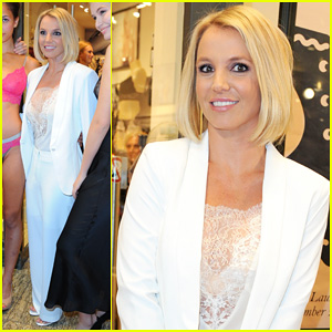Britney Spears Debuts New Short Hair at Lingerie Collection Launch in Germany!