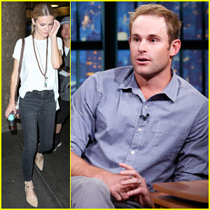 Brooklyn Decker Accompanies Hubby Andy Roddick to 'Late Night with Seth Meyers'