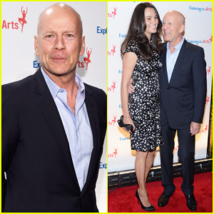 Bruce Willis & Wife Emma Heming Are Such a Cute Couple at Exploring the Arts Gala 2014