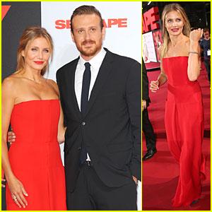 Cameron Diaz Rocks Smokin' Hot Red Jumpsuit at 'Sex Tape' Germany Premiere