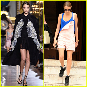 Cara Delevingne Fiercely Hits the Runway for Stella McCartney